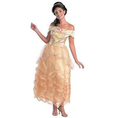 Womens Disney Princess Belle Dress Beauty &Beast Halloween - Disney Belle Halloween Kostüme