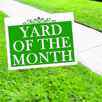 Yard Of The Month Plastic Novelty Indoor Outdoor Coroplast Yard Sign