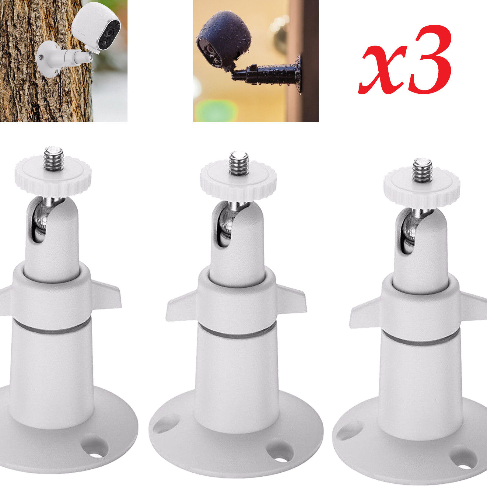 3-pack Security Wall Holder Mount Outdoor/Indoor for Arlo Pro 2/Pro/Arlo Camera Consumer Electronics