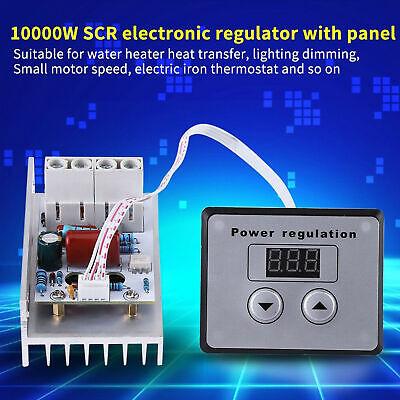10000w Ac 110-220v Scr Motor Speed Controller Volt Regulator Dimmer Thermostat
