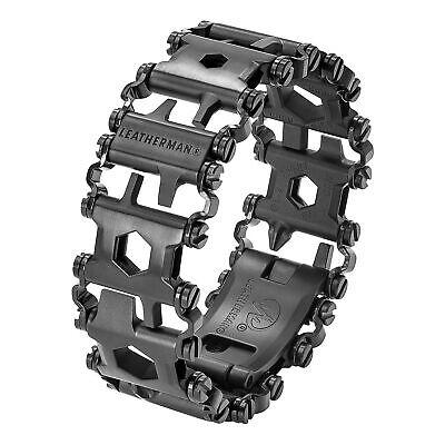 Leatherman Tread Unisex Black Stainless Steel Multitool Bracelet