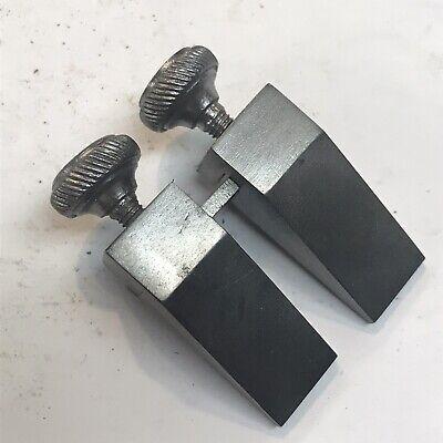 Vintage Machinists Key Seat Rule Steel Clamps 1-pair.