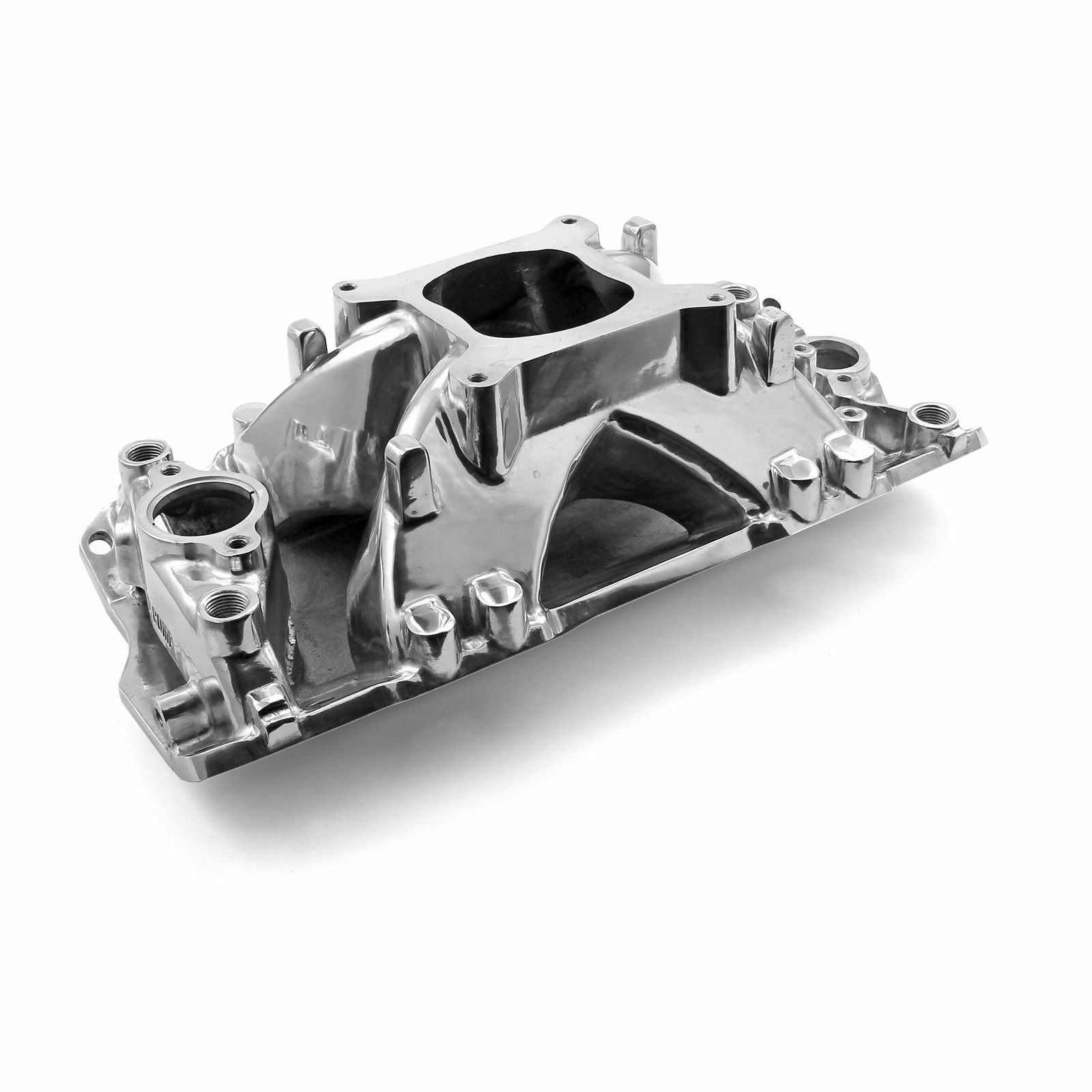 Sbc Polished Aluminum Intake 350 Shoot Out Series High