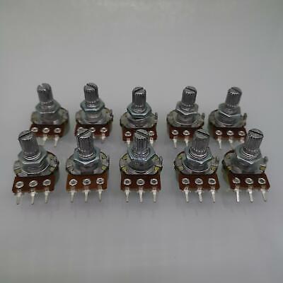 10pcs 100K ohm Linear Taper Rotary Potentiometer Panel pot B100K 15mm