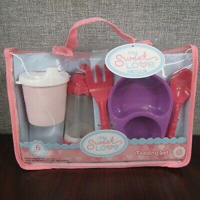 My Sweet Love Baby Doll Feeding Set 6 Piece Doll Accessories ~NEW~ Baby Doll Feeding Set
