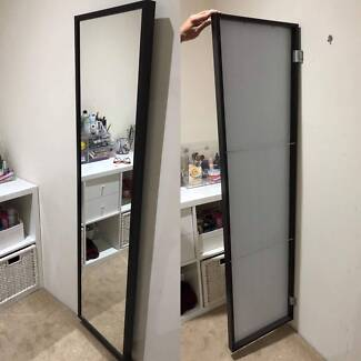 Mirror w/ back space for storage
