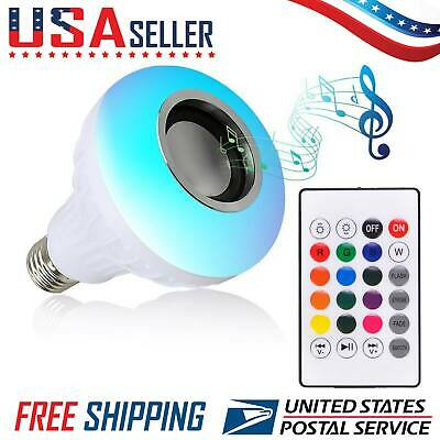 Music Lamp (LED Wireless Bluetooth Light Bulb Speaker RGB Color 12W Music Lamp with Remote )