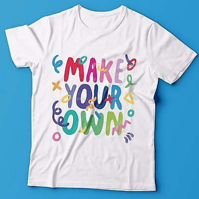 Make Your Own T-Shirt 100% Cotton Tee Shirt - NEW - FREE SHIPPING - Make Your Own T Shirts