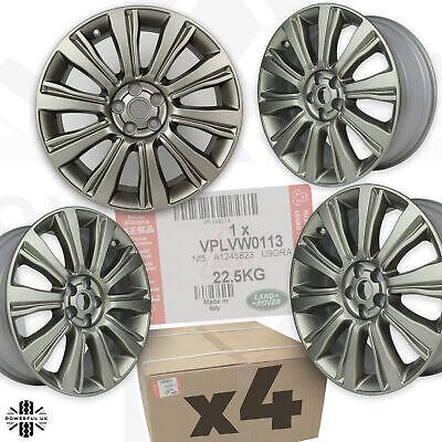 "Freelander 2 alloy wheels x4 Genuine set Satin Grey Gold 10 Spoke 19"" 8J LR2 HST"
