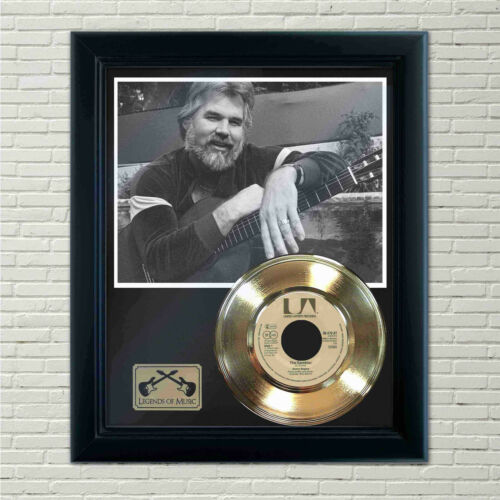 """Kenny Rogers """"The Gambler"""" Framed Record Display"""