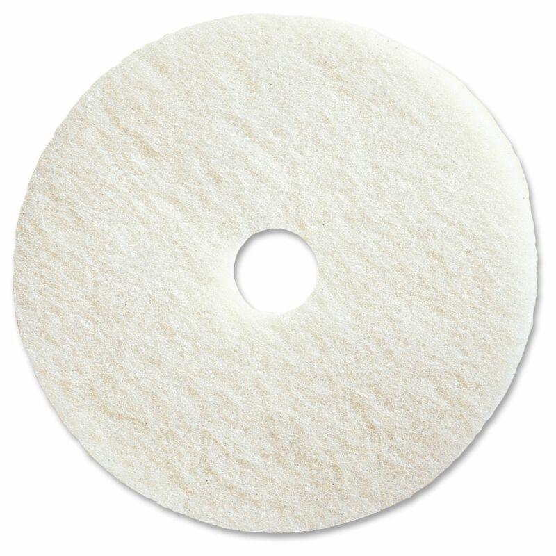 "Genuine Joe 17"" White Polishing Floor Pad - (5 PerCarton) White"