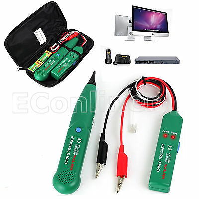 Rj11 Network Line Finder Cable Tracker Tester Toner Electric Wire Tracer W Bag