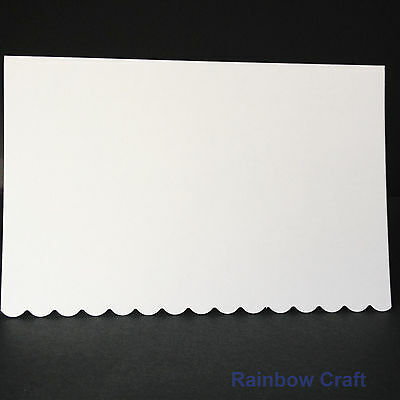 10 blank Cards & Envelopes SQUARE or C6 (9 Colors) - Scallop Wedding Invitation - C6 White