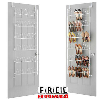 Over The Door Shoe Organizer 18 Pair Wire Rack Organizer Storage Hanging Closet
