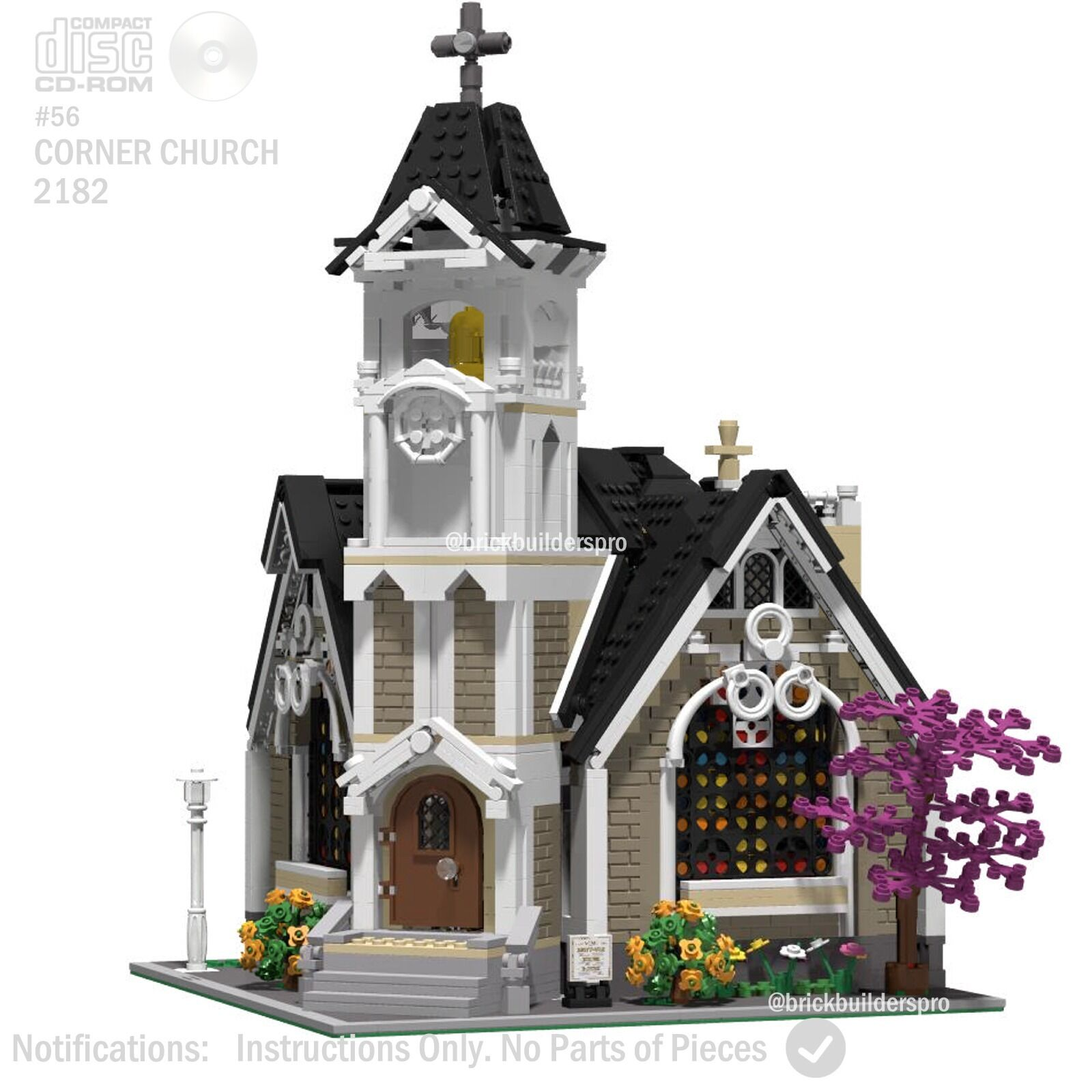 Cd Corner Church Modular Pdf Book Custom Lego Instructions Cc Corner56