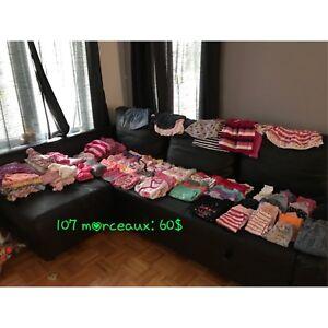 Vêtements filles 6 mois 107 mrx