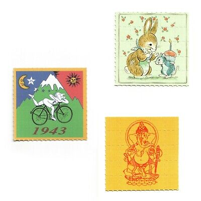 Ganesha Blotter Art Print Pappemagnet 5x5cm