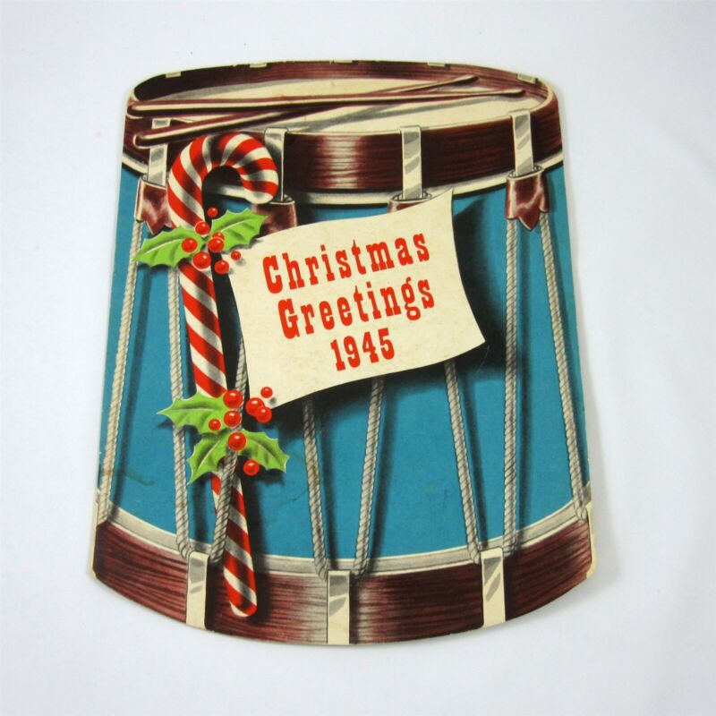 Christmas New Years Greetings 1945 Advertising Holiday Booklet Line Material Co