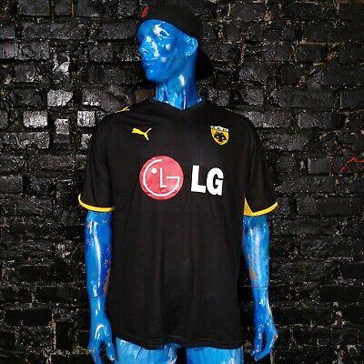 AEK Athens Jersey Away football shirt 2008 - 2009 Black Puma Trikot Mens Size XL image