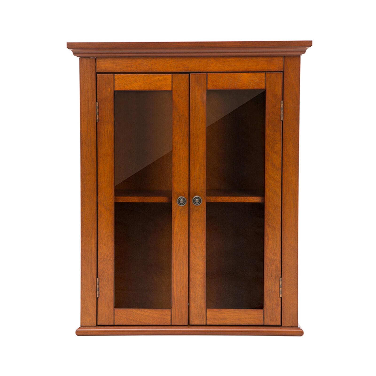 Glitzhome 24 Elegant Wall Mounted Cabinets Shutterglass Door