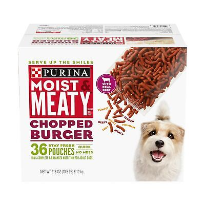 Purina Moist & Meaty Chopped Burger Adult Dry Dog Food 36 ct. Pouch