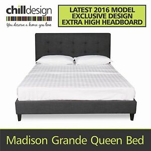 FACTORY DIRECT QUEEN AND KING UPHOLSTERED TUFTED FABRIC BED FRAME Moffat Beach Caloundra Area Preview
