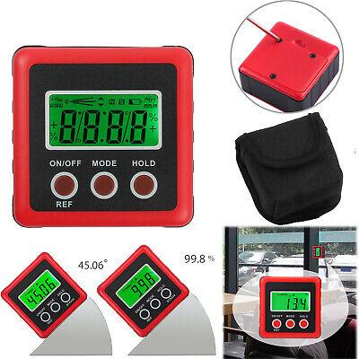 0-360 Level Box Protractor Digital Inclinometer Angle Finder Bevel Gauge Magnet