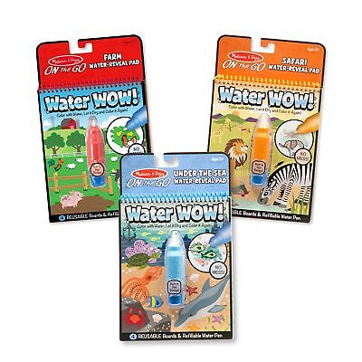 Melissa  Doug Water Wow! Farm/Safari/Under the Sea Reusable Colors with Pad (3 - Water Wow Melissa And Doug
