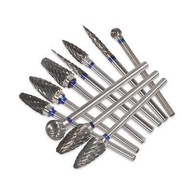 10 Pcsbox Dental Lab Clinic Hp Tungsten Carbide Steel Burs Cutters 2.35mm Burrs