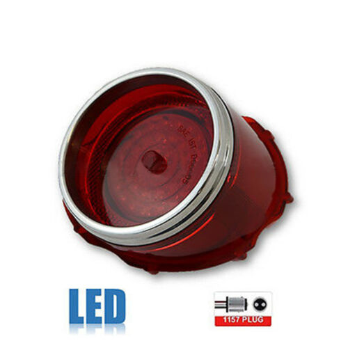 65 1965 Chevy Impala Caprice LED Rear Tail Brake Light Lamp Lens w/ Trim Each