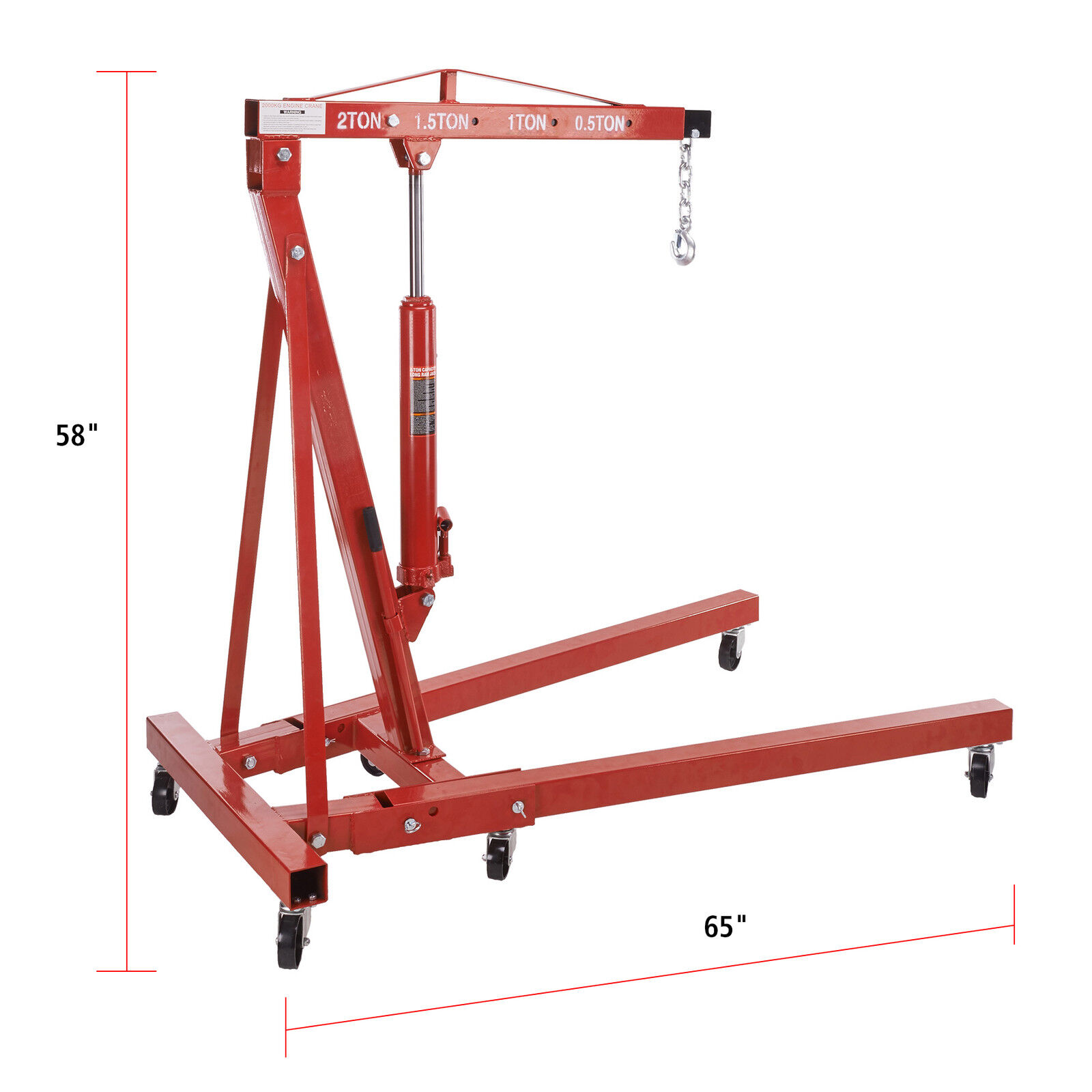 Hydraulic 4400 lbs engine hoist cherry picker jack lift for Motor lift for sale