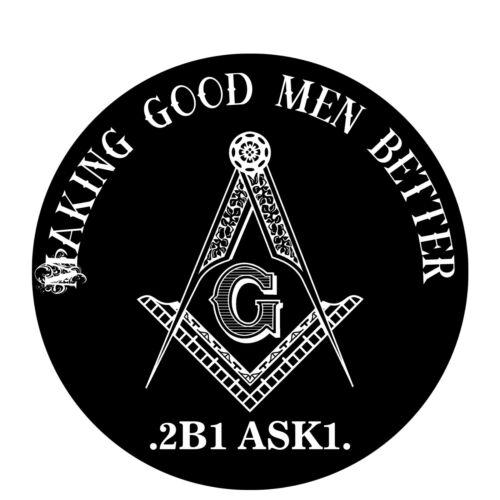 Making Good Men Better Round Masonic Bumper Sticker - [4 1/2