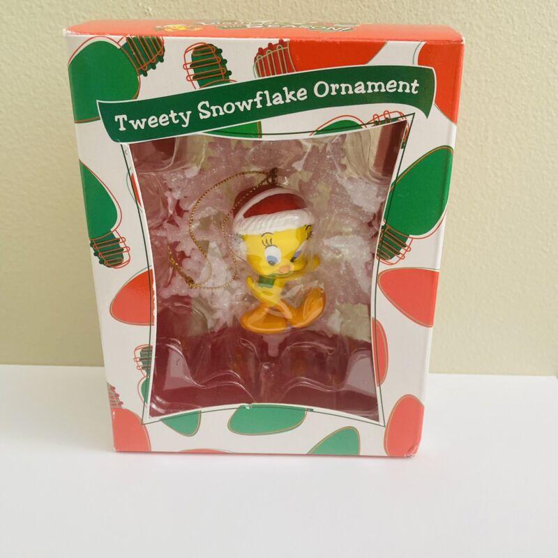 """Tweety Bird Christmas Ornament 4.25"""" Warner Brothers 1999 Looney Tunes Vintage"""