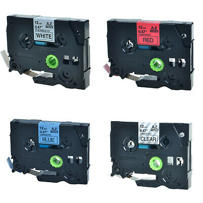 4pk Tze Tz 131 231 431 531 Label Tape For Brother P-touch Pt-1170s 1190 11q 1200