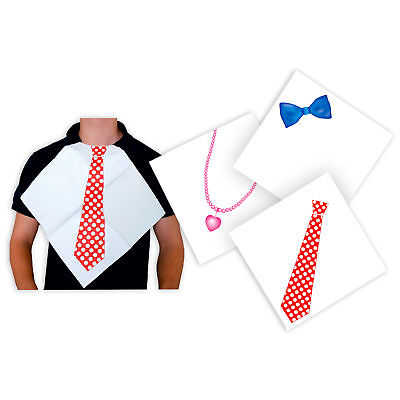60 Napkins 3-layer 16,5 x 16,5 cm with Audruck: Tie, Bow Tie+Necklace](Bow Tie Napkins)