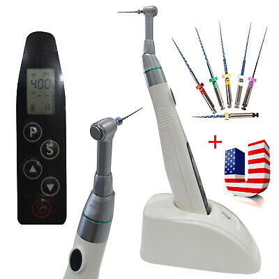 Dental Endo Motor Root Canal Treatment Wireless 161 Contra Angle6files Niti