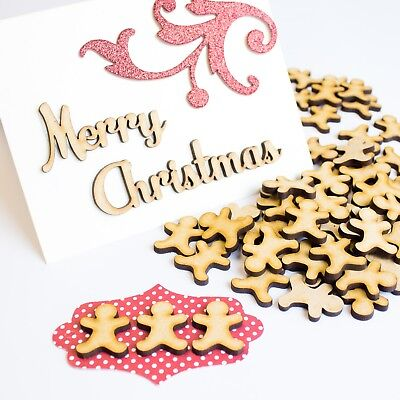 Wooden MDF Christmas Gingerbread Man MDF Cut Blanks Wood Craft Shapes 25mm ](Gingerbread Man Craft)