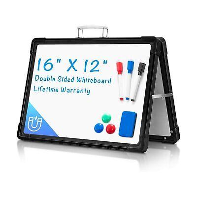 Small Dry Erase White Board For Desk Arcobis 12x16 Portable Magnetic White...