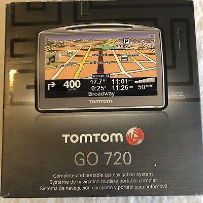 NEW TomTom GO 720 Portable GPS Navigator Unit Set in Box tom Bluetooth music 4.3