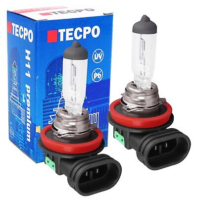 2x TECPO H11 HALOGEN AUTO-LAMPE 12V 55W GLÜHBIRNE PGJ19-2 KFZ BIRNE GLÜHLAMPE