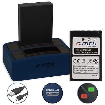 2 Akkus + Dual-Ladegerät BLS-1 für Olympus Digital SLR E-400, E-410, E-420 Olympus E-410 Digitale Slr