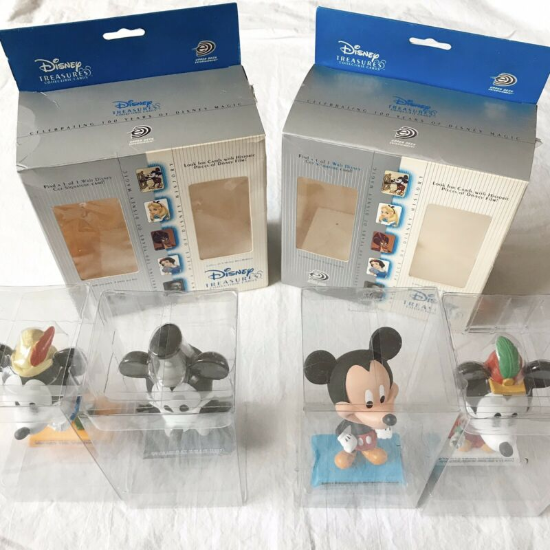 Disney Treasures 2003 Upper Deck 4 Mickey Mouse Mini-Bobbers Bobblehead No Cards