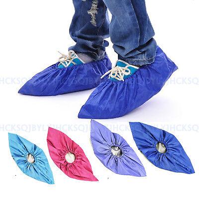 Women Men's Kids Outdoor Waterproof Rain Shoe Covers Reusable Overshoes 1 Pair