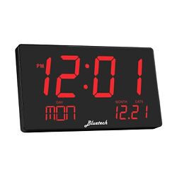 Bluetech Oversized LED Digital Clock- Extra Large Display, Easy to Read 3 Inc...