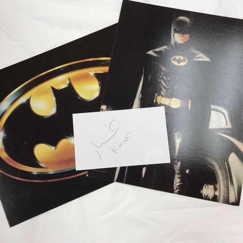Michael Keaton Signed 4x6 Index Card Autograph JSA Authentication Batman