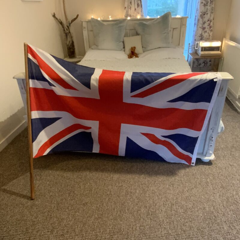 British England Flag Union Jack With/on Pole Large English Polyester Royal UK GB