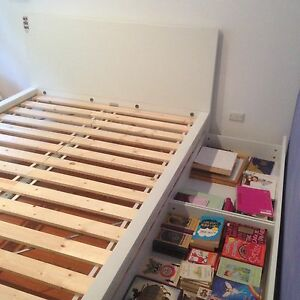 MALM bed frame with 4 storage boxes North Narrabeen Pittwater Area Preview