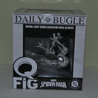 Marvel Q-Fig QFig Black & White Spider-Man Exclusive Vinyl Figure NEW Lootcrate