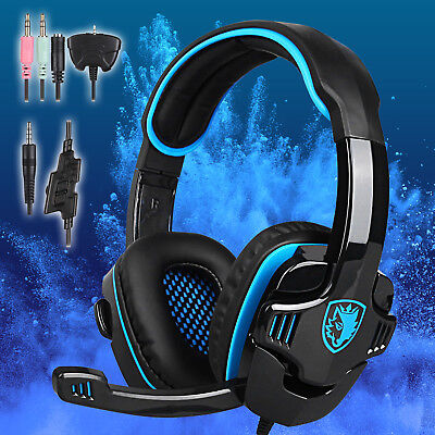 SADES SA-708 Stereo Gaming Headset headphones w/ Mic for PS4 Laptop PC Notebook