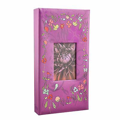 Arpan 6'x4' Designer Photo Album with 300 Pockets Purple-Birds-   AL-9812